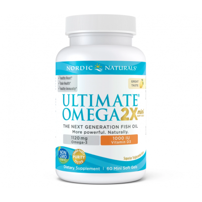 Ultimate Omega 2X Mini with Vitamin D3 1120mg