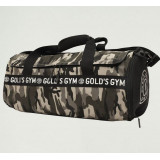 Golds Gym Camo Barrel Bag